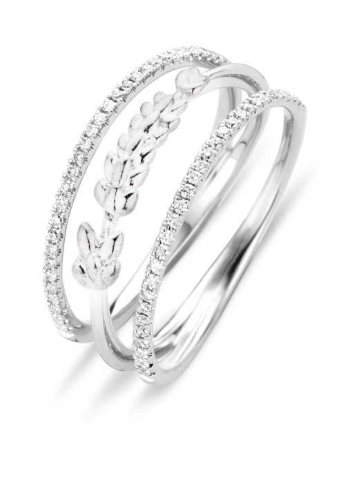 Diamond Point Witgouden ring 0.21 ct diamant Lavender