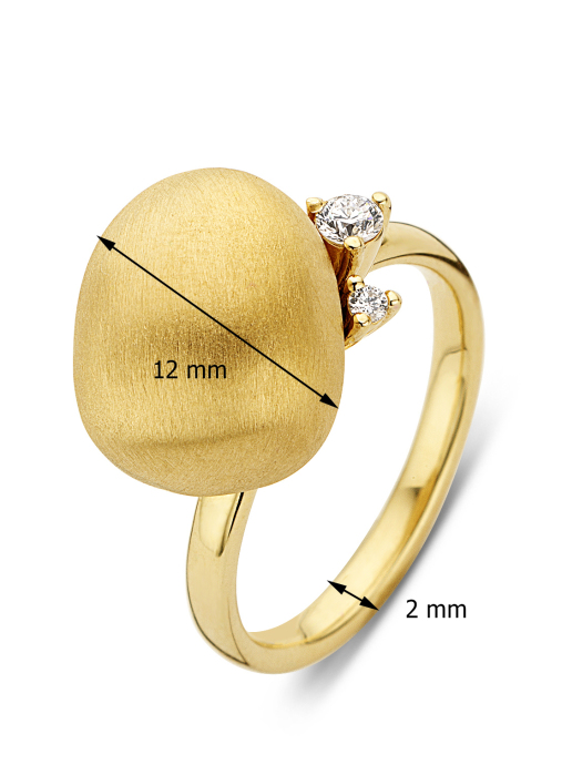 Diamond Point Ring in 18K Gelbgold