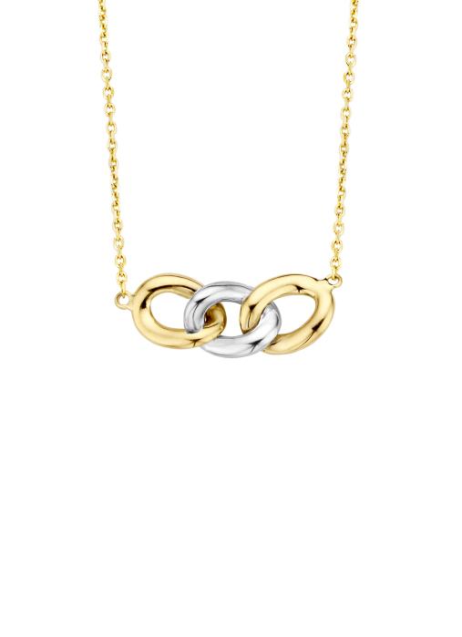 Diamond Point Timeless Treasures Halskette in 14 karaat bicolor
