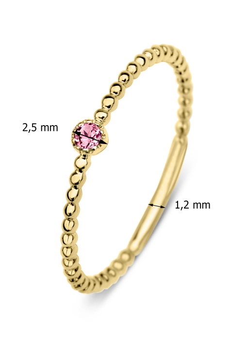 Diamond Point Joy ring in 14 karat yellow gold