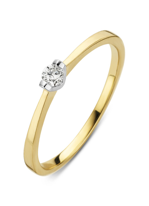 Diamond Point Gouden ring, 0.10 ct diamant, Starlight
