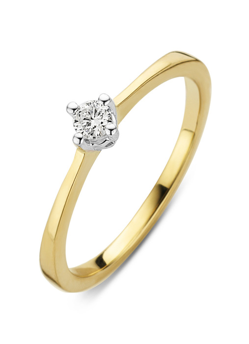 Diamond Point Gouden ring 0.10 ct diamant Starlight