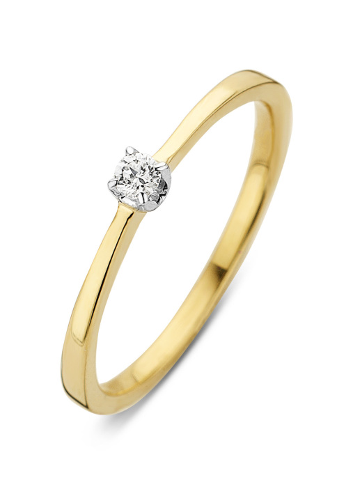 Diamond Point Starlight ring in 14 karat yellow and whitegold