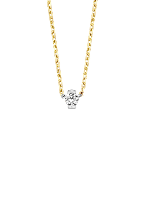 Diamond Point Starlight necklace in 14 karat yellow and whitegold