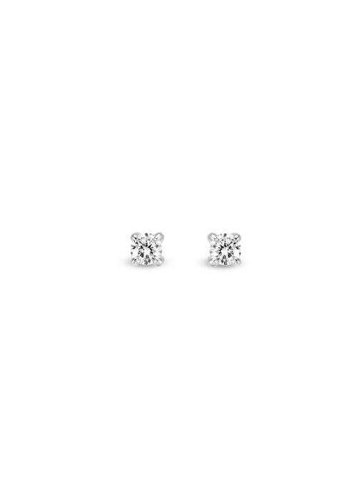 Diamond Point Ohrringe in 14K Gelbgold mit Weißes Rhodium