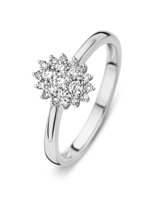 Diamond Point Majestic ring in 14 karat white gold
