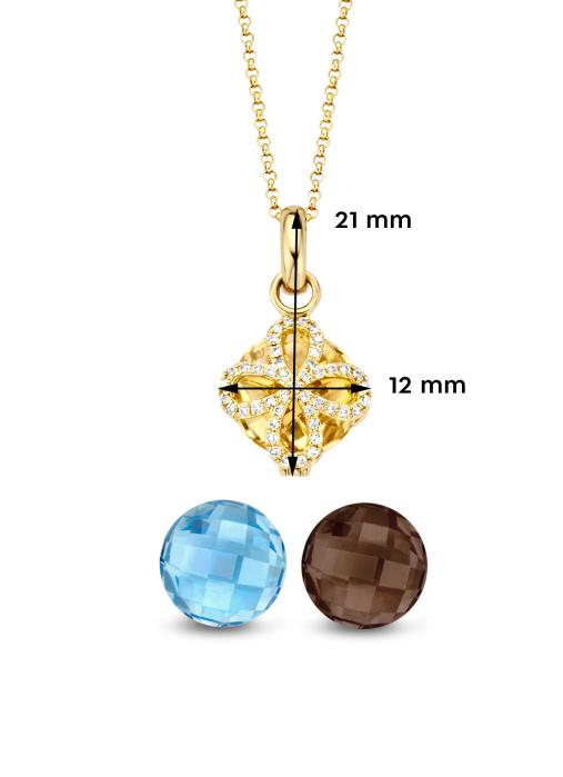Diamond Point Varié pendant in 14 karat yellow gold