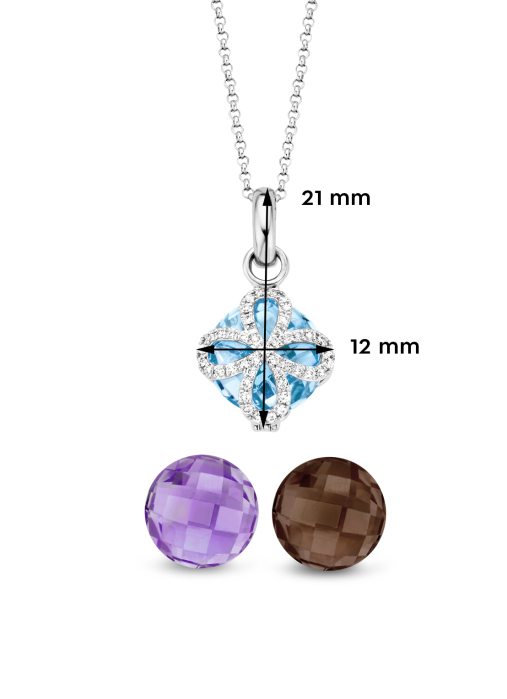Diamond Point Varié pendant in 14 karat white gold