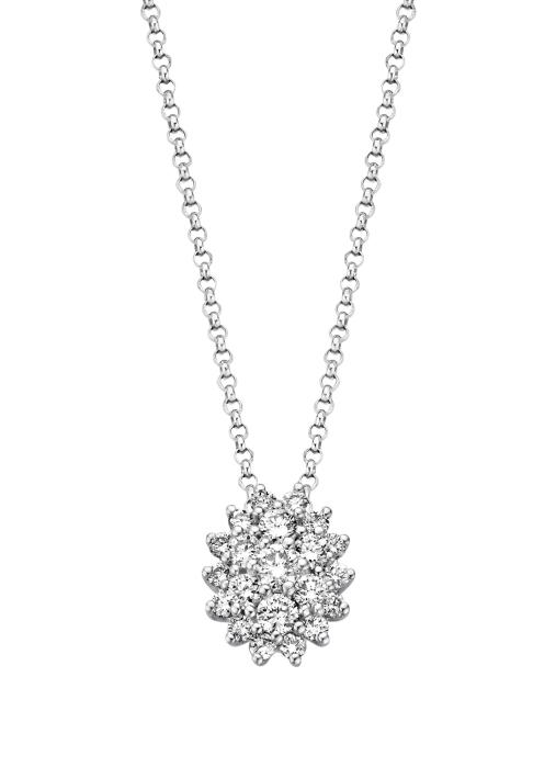Diamond Point Majestic pendant in 14 karat white gold