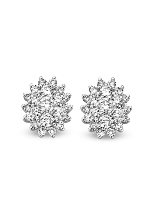 Diamond Point Majestic earrings in 14 karat white gold
