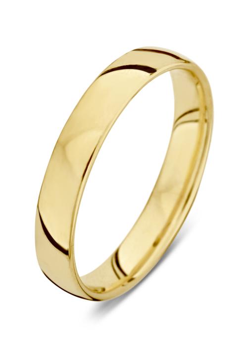 Diamond Point Wedding Ring in 18K Gelbgold