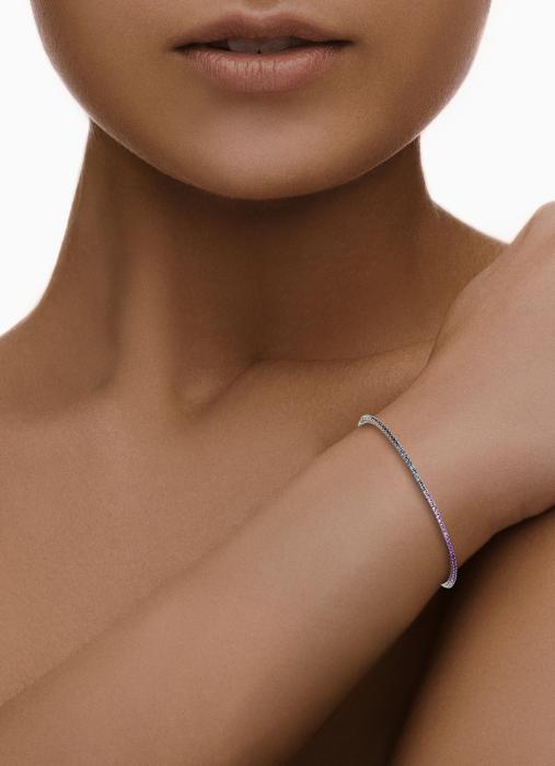 Diamond Point Witgouden rainbow armband 1.35 ct saffier Tennis bracelet