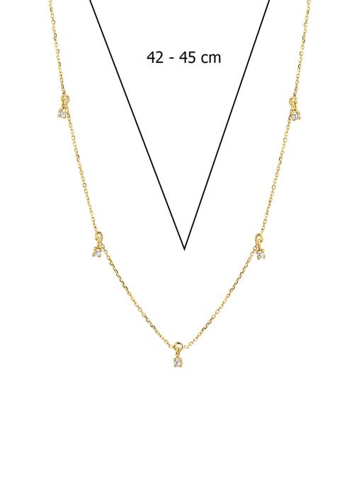Diamond Point Geelgouden collier 0.13 ct diamant Joy