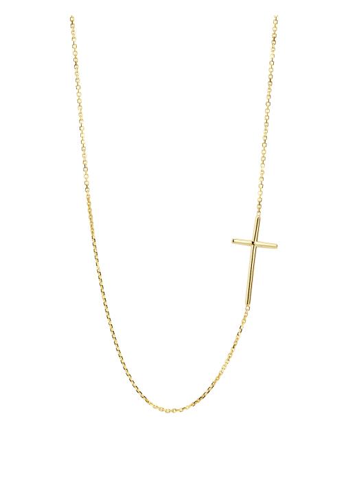 Diamond Point Symbols necklace in 14 karat yellow gold