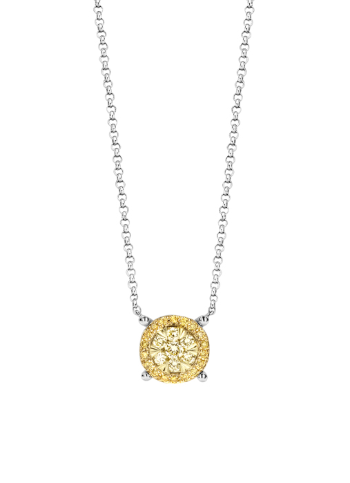 Diamond Point Witgouden collier, 0.26 ct diamant, Enchanted