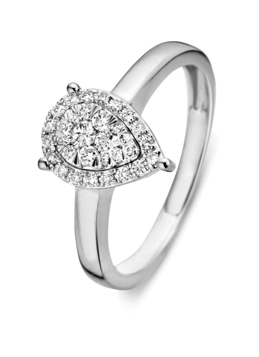 Diamond Point Witgouden ring, 0.31 ct diamant, Enchanted
