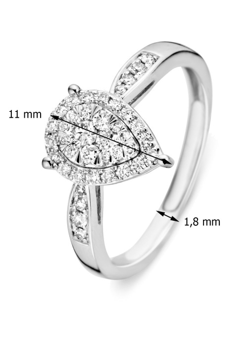 Diamond Point Witgouden ring 0.36 ct diamant Enchanted