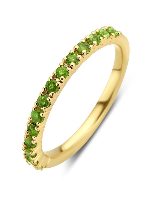 Diamond Point Ensemble ring in 14 karat yellow gold
