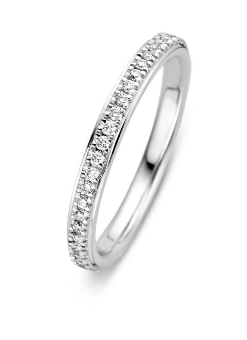 Diamond Point Witgouden ring, 0.17 ct diamant, Alliance