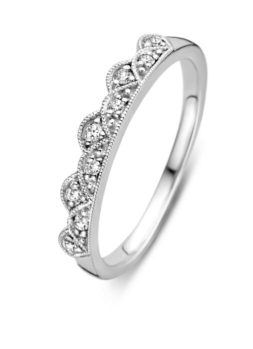 Diamond Point Witgouden ring, 0.10 ct diamant, Since 1904