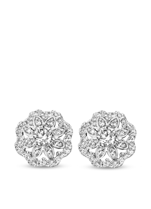 Diamond Point Christmas collection earrings in 14 karat white gold