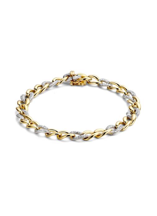 Diamond Point Gouden armband 0.73 ct diamant Caviar