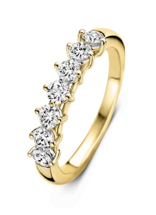 Diamond Point Geelgouden ring, 0.70 ct diamant, Hearts & Arrows