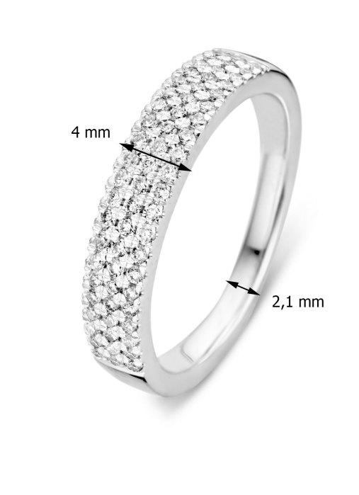Diamond Point Caviar ring in 14 karat white gold