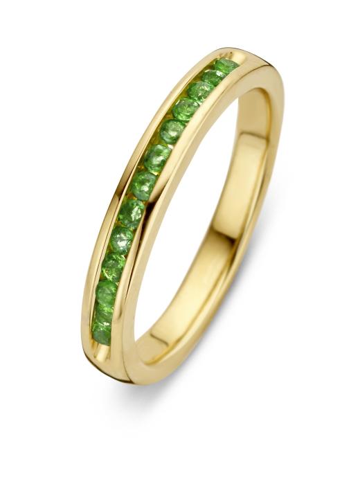 Diamond Point Colors ring in 14 karat yellow gold