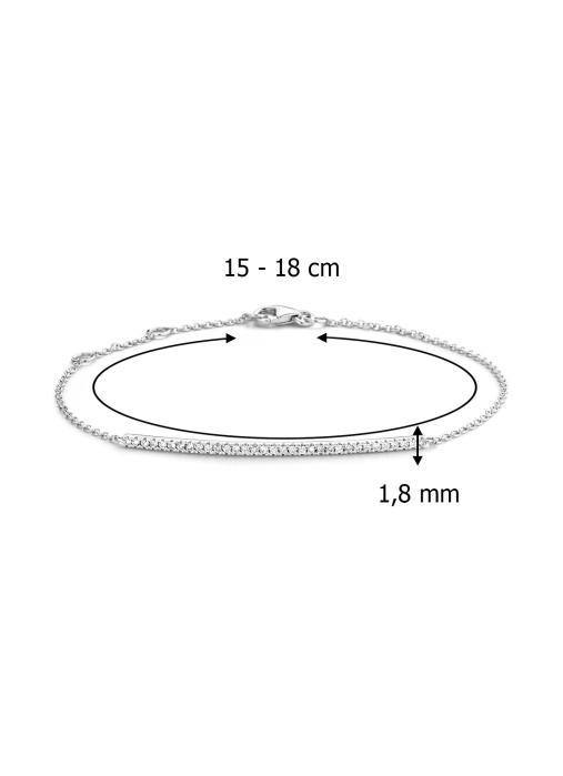 Diamond Point Witgouden armband, 0.20 ct diamant, Joy