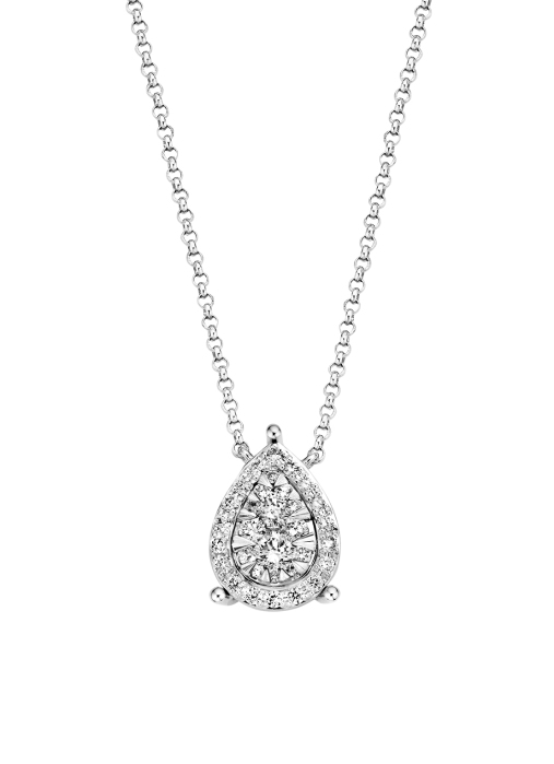 Diamond Point Witgouden collier, 0.27 ct diamant, Enchanted