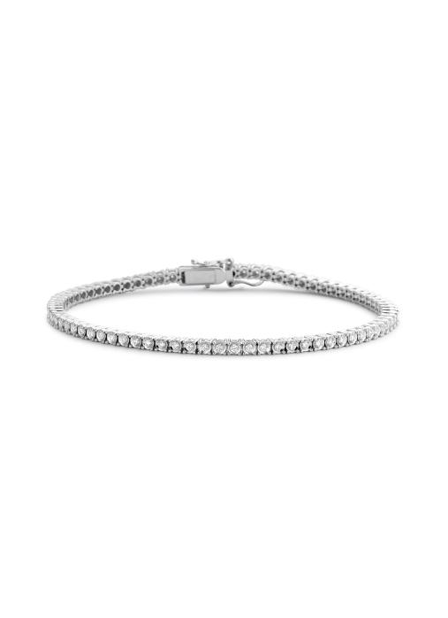 Diamond Point Tennis bracelet bracelet in 14 karat white gold