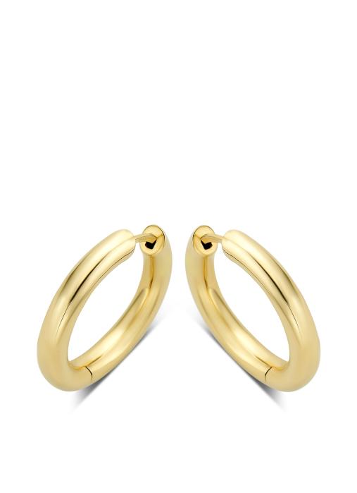 Diamond Point Timeless treasures earrings in 14 karat yellow gold