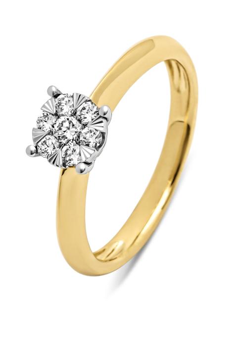 Diamond Point Enchanted Ring in 14K Gelbgold mit Weißes Rhodium