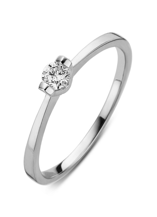 Diamond Point Starlight ring in 14 karat white gold