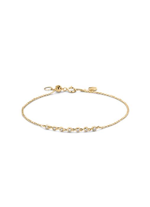 Diamond Point Geelgouden armband, 0.11 ct diamant, Joy