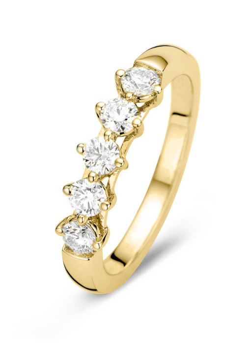 Diamond Point Hearts & Arrows Ring in 18K Gelbgold