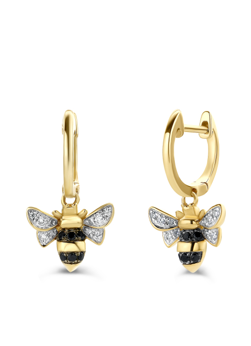 Diamond Point Queen Bee Ohrringe in 14K Gelbgold
