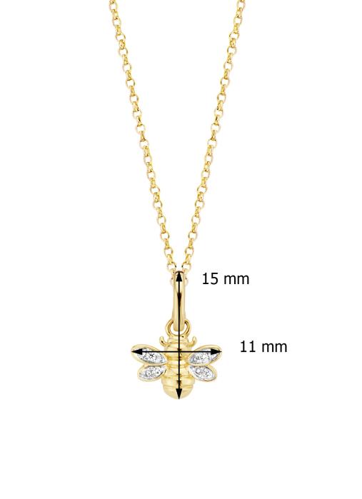 Diamond Point Geelgouden hanger, 0.04 ct diamant, Queen Bee