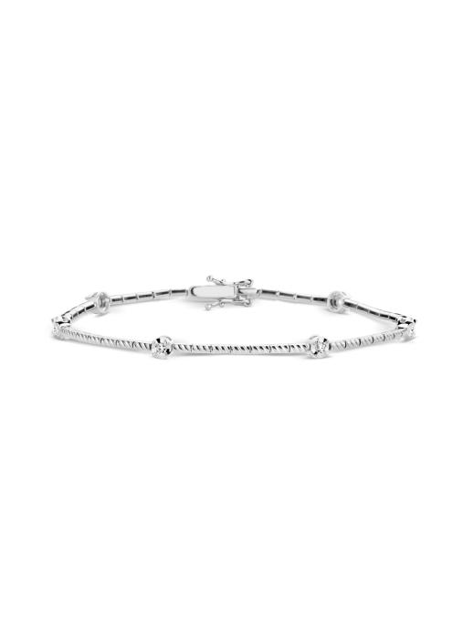 Diamond Point Witgouden armband, 0.18 ct diamant, Ensemble