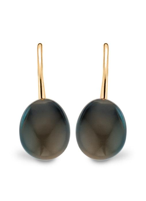 Diamond Point Little Drops Ohrringe in 14K Gelbgold