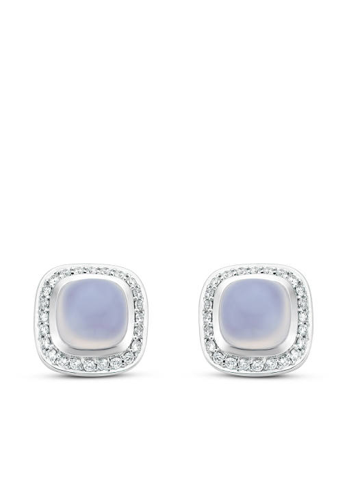 Diamond Point Rhapsody earrings in 14 karat white gold