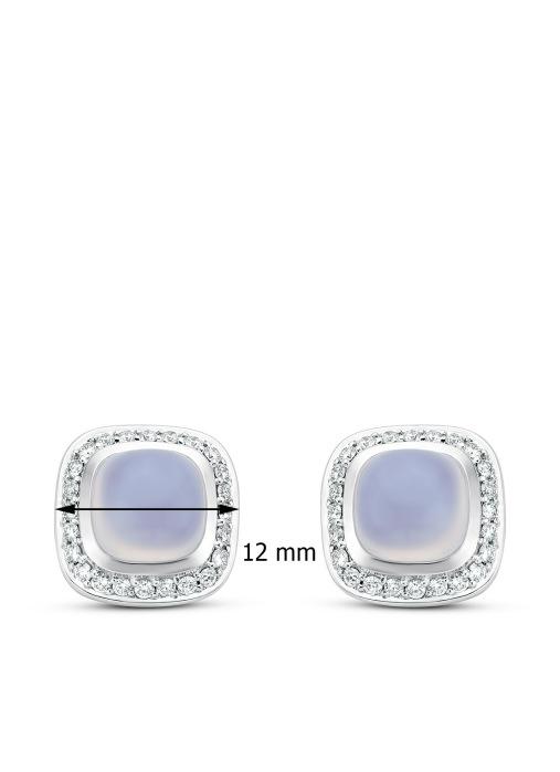 Diamond Point Rhapsody earrings in 14 karat white gold