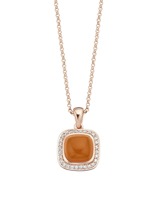 Diamond Point Rhapsody pendant in 14 karat rose gold