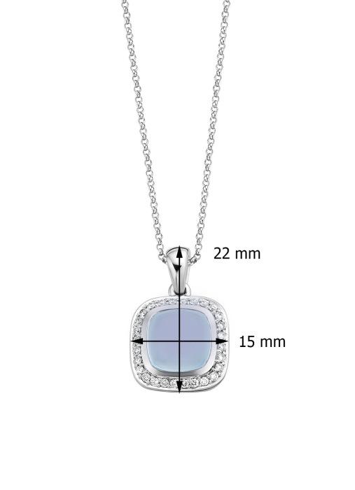 Diamond Point Rhapsody pendant in 14 karat white gold