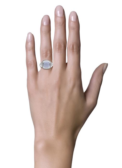 Diamond Point Rhapsody ring in 14 karat white gold