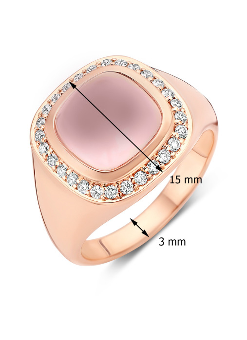 Diamond Point Rhapsody ring in 14 karat rose gold