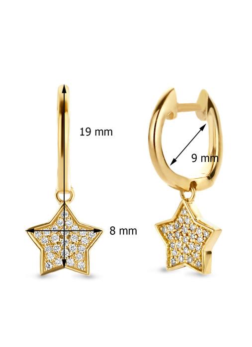 Diamond Point Dreamer earrings in 14 karat yellow gold