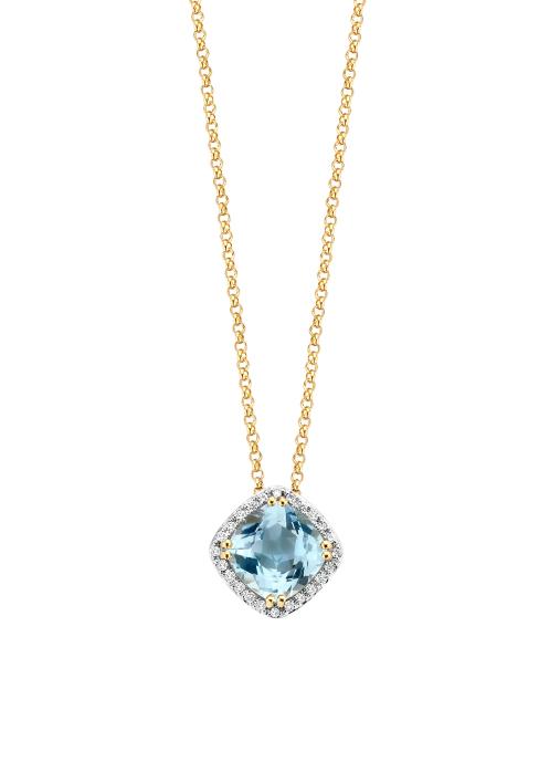 Diamond Point Fiësta pendant in 14 karat yellow gold