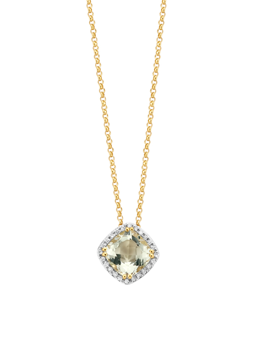 Diamond Point Fiësta pendant in 14 karat yellow gold